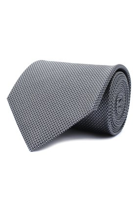 Мужской шелковый галстук BRIONI серого цвета, арт. 062I00/0943U | Фото 1
