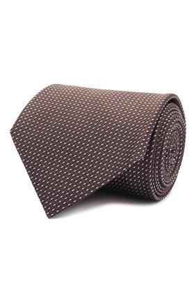 Мужской шелковый галстук BRIONI темно-коричневого цвета, арт. 062I00/0943U | Фото 1