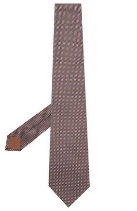 Мужской шелковый галстук BRIONI темно-коричневого цвета, арт. 062I00/0943U | Фото 2