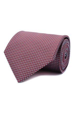 Мужской шелковый галстук BRIONI красного цвета, арт. 062I00/0943U | Фото 1