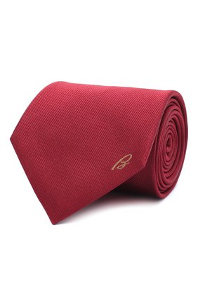 Мужской шелковый галстук BRIONI светло-коричневого цвета, арт. 062I00/0943C | Фото 1