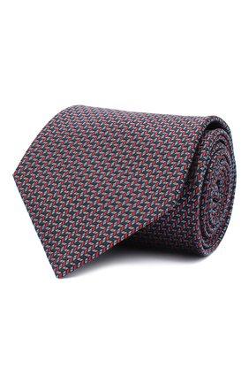 Мужской шелковый галстук BRIONI красного цвета, арт. 062I00/09439 | Фото 1