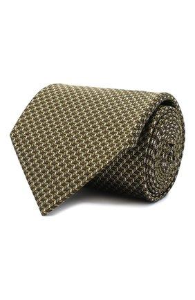 Мужской шелковый галстук BRIONI желтого цвета, арт. 062I00/09439 | Фото 1