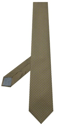 Мужской шелковый галстук BRIONI желтого цвета, арт. 062I00/09439 | Фото 2