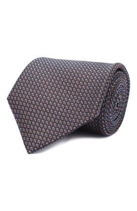 Мужской шелковый галстук BRIONI коричневого цвета, арт. 062I00/09438 | Фото 1