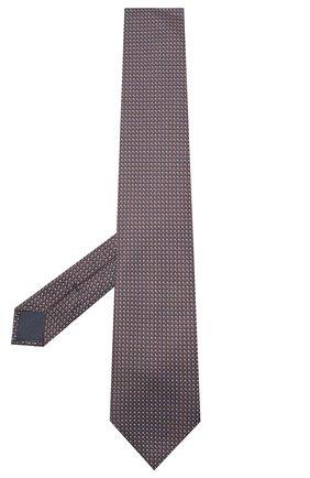 Мужской шелковый галстук BRIONI коричневого цвета, арт. 062I00/09438 | Фото 2