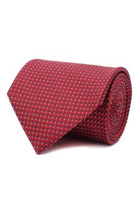 Мужской шелковый галстук BRIONI красного цвета, арт. 062I00/09438 | Фото 1