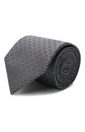 Мужской шелковый галстук BRIONI серого цвета, арт. 062I00/09437 | Фото 1