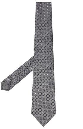 Мужской шелковый галстук BRIONI серого цвета, арт. 062I00/09437 | Фото 2