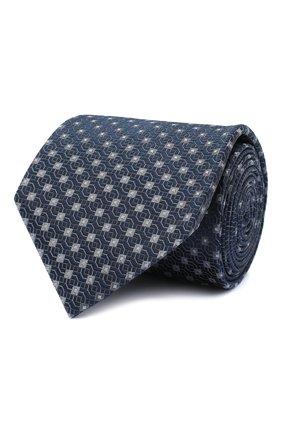 Мужской шелковый галстук BRIONI темно-серого цвета, арт. 062I00/09437 | Фото 1