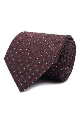 Мужской шелковый галстук BRIONI темно-коричневого цвета, арт. 062I00/09437 | Фото 1