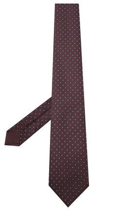 Мужской шелковый галстук BRIONI темно-коричневого цвета, арт. 062I00/09437 | Фото 2