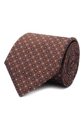 Мужской шелковый галстук CANALI коричневого цвета, арт. 70/HJ02853 | Фото 1