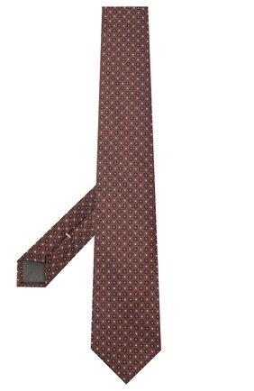 Мужской шелковый галстук CANALI коричневого цвета, арт. 70/HJ02853 | Фото 2