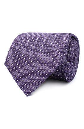 Мужской шелковый галстук CANALI сиреневого цвета, арт. 24/HJ02843 | Фото 1