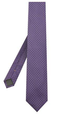 Мужской шелковый галстук CANALI сиреневого цвета, арт. 24/HJ02843 | Фото 2