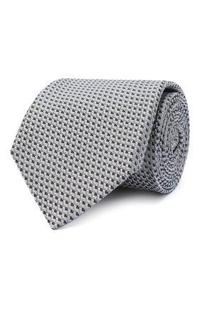 Мужской шелковый галстук CANALI серого цвета, арт. 24/HJ02842 | Фото 1