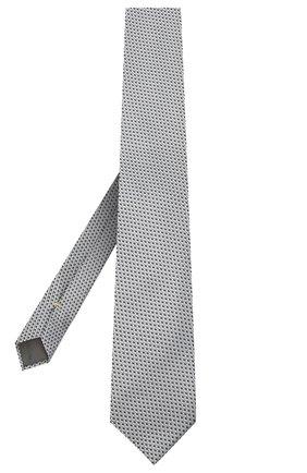 Мужской шелковый галстук CANALI серого цвета, арт. 24/HJ02842 | Фото 2