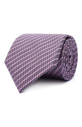 Мужской шелковый галстук CANALI сиреневого цвета, арт. 24/HJ02841 | Фото 1