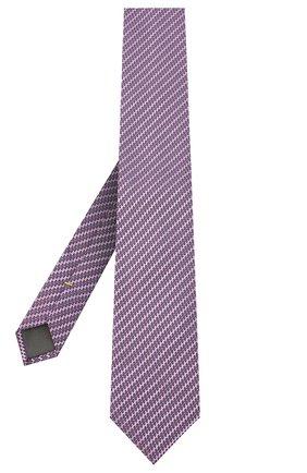 Мужской шелковый галстук CANALI сиреневого цвета, арт. 24/HJ02841 | Фото 2