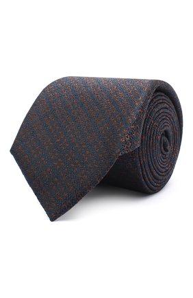 Мужской шелковый галстук CANALI коричневого цвета, арт. 18/HJ02911 | Фото 1