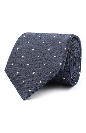 Мужской шелковый галстук CANALI темно-коричневого цвета, арт. 18/HJ02894 | Фото 1