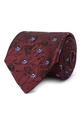 Мужской шелковый галстук CANALI красного цвета, арт. 18/HJ02888 | Фото 1