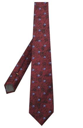 Мужской шелковый галстук CANALI красного цвета, арт. 18/HJ02888 | Фото 2