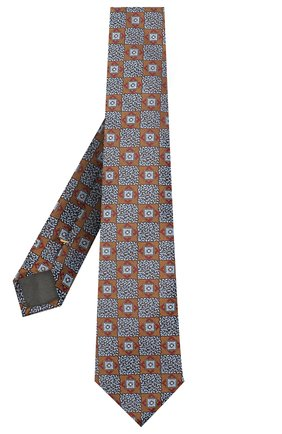 Мужской шелковый галстук CANALI желтого цвета, арт. 18/HJ02866 | Фото 2
