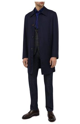 Мужские джинсы KITON темно-синего цвета, арт. UPNJS/J02T64 | Фото 2