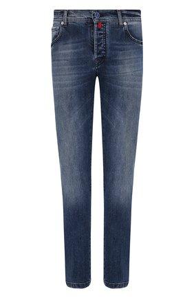 Мужские джинсы KITON синего цвета, арт. UPNJS/J02T60 | Фото 1