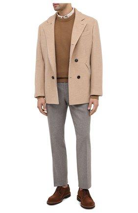 Мужской шерстяные брюки RALPH LAUREN серого цвета, арт. 798804761 | Фото 2