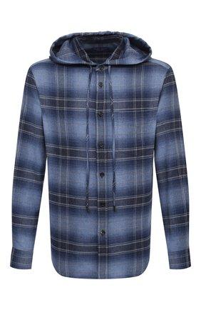 Мужская хлопковая рубашка RALPH LAUREN темно-синего цвета, арт. 790822185 | Фото 1