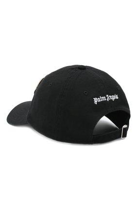 Мужской хлопковая бейсболка PALM ANGELS черного цвета, арт. PMLB003E20FAB0081060 | Фото 2