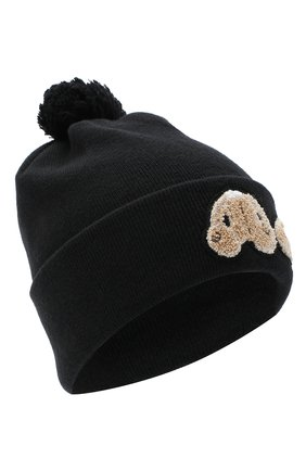 Мужская шерстяная шапка PALM ANGELS черного цвета, арт. PMLC007E20KNI0011060 | Фото 1