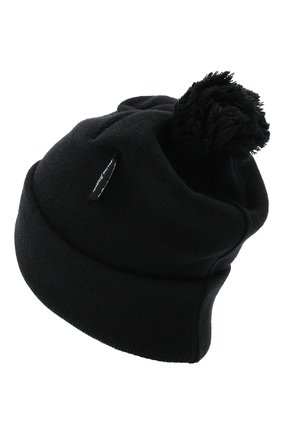 Мужская шерстяная шапка PALM ANGELS черного цвета, арт. PMLC007E20KNI0011060 | Фото 2