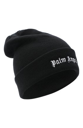 Мужская шерстяная шапка PALM ANGELS черного цвета, арт. PMLC010E20KNI0011001 | Фото 1