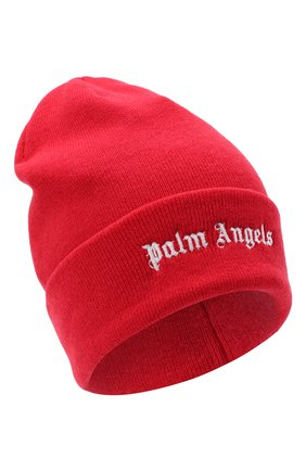 Мужская шерстяная шапка PALM ANGELS красного цвета, арт. PMLC010E20KNI0012901 | Фото 1