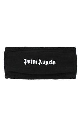 Мужская маска для лица PALM ANGELS черного цвета, арт. PMRG002E20JER0011001 | Фото 1