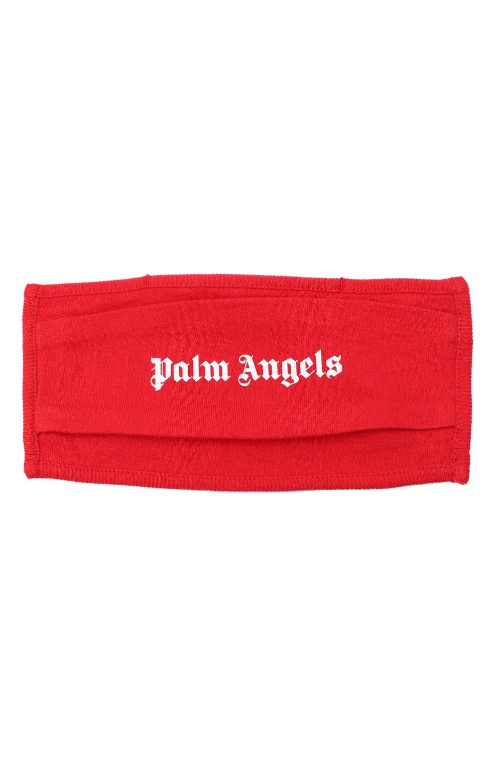 Мужская маска для лица PALM ANGELS красного цвета, арт. PMRG002E20JER0012501   Фото 1