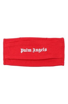 Мужская маска для лица PALM ANGELS красного цвета, арт. PMRG002E20JER0012501 | Фото 1