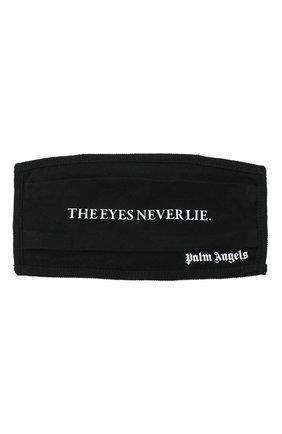 Мужская маска для лица PALM ANGELS черного цвета, арт. PMRG002E20JER0031001 | Фото 1