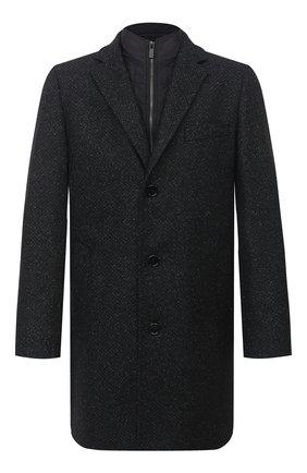 Мужской пальто HUGO темно-серого цвета, арт. 50437238   Фото 1