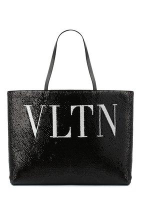 Женский сумка-шопер valentino garavani totemic VALENTINO черного цвета, арт. UW2B0H45/LHN | Фото 1
