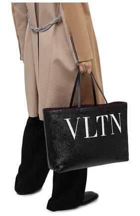 Женский сумка-шопер valentino garavani totemic VALENTINO черного цвета, арт. UW2B0H45/LHN | Фото 2