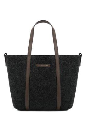 Женский сумка-шопер BRUNELLO CUCINELLI темно-серого цвета, арт. MB29D2103 | Фото 1