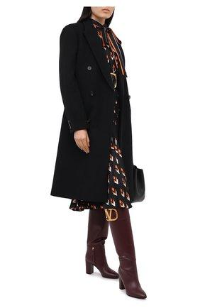 Женские кожаные сапоги valentino garavani supervee VALENTINO бордового цвета, арт. UW2S0Z94/AXA   Фото 2