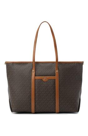 Женский сумка-тоут beck large MICHAEL MICHAEL KORS коричневого цвета, арт. 30T0GKNT3B   Фото 1