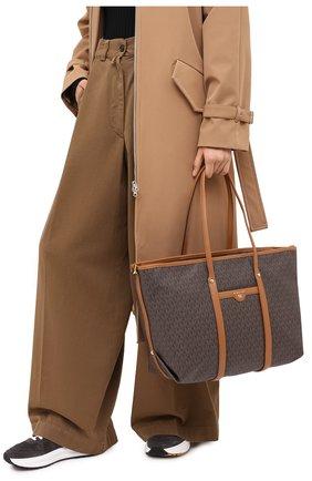 Женский сумка-тоут beck large MICHAEL MICHAEL KORS коричневого цвета, арт. 30T0GKNT3B   Фото 2