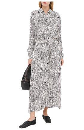 Женское платье из вискозы KENZO черно-белого цвета, арт. FA62R002253C | Фото 2